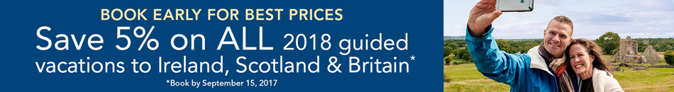 Save 5% - On All 2018 Guided Vacations