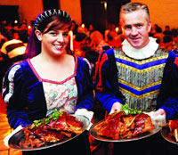 Enjoy a medieval feast at Bunratty Castle