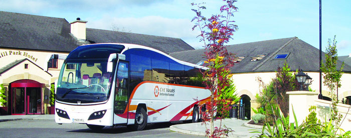 CIE Tours Coach - travel in the height of comfort aboard one of our state-of-the-art touring coaches