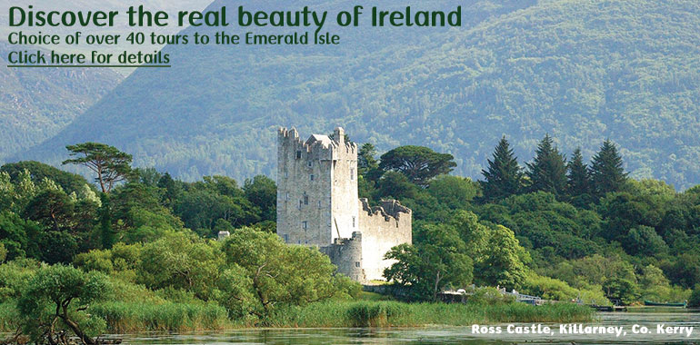 Escorted Coach Tours of Ireland, Scotland, Britain, & Wales