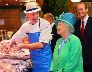 Queen Elizabeth II enjoys a trip to Cork City's famous English Market during her historic and hugely successful visit to Ireland.