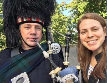 Bagpipe player at the Taste of Scotland with CIECourtney