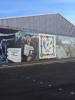 Mural of Northern Ireland's history, Belfast, Northern Ireland, UK