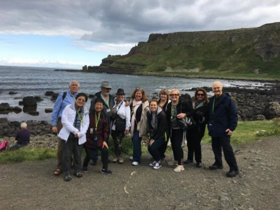 Some of our Grand Tour guests enjoying the view at the Giant's Causeway, Northern Ireland, UK