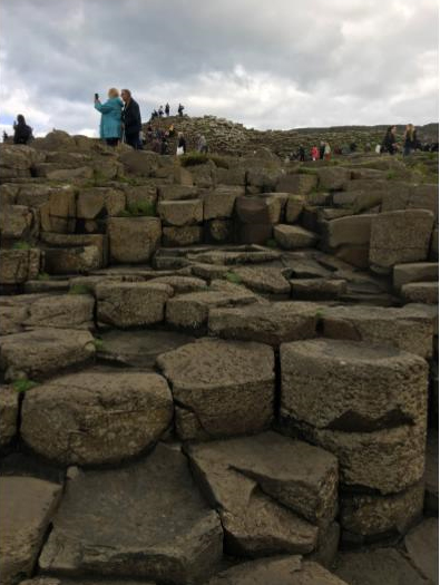 The hexagonal stones that make up the causeway