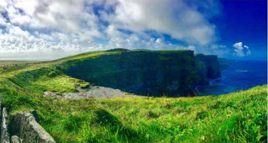 Our beautiful sunny day at the Cliffs of Moher, Ireland