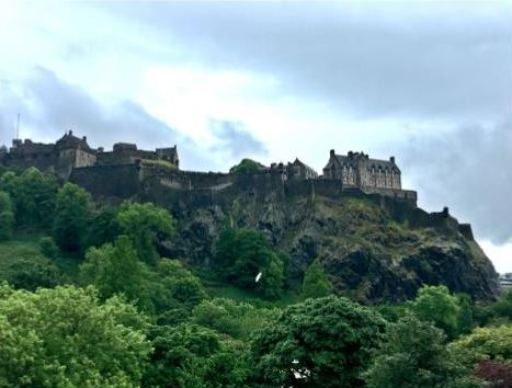 The majestic Edinburgh Castle