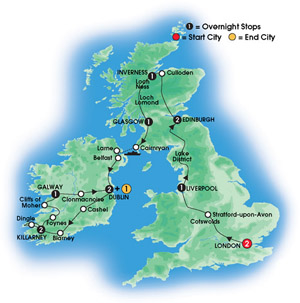 how to plan a trip to england ireland and scotland