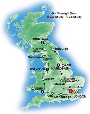 2014 Best of Britain 9 Day Tour