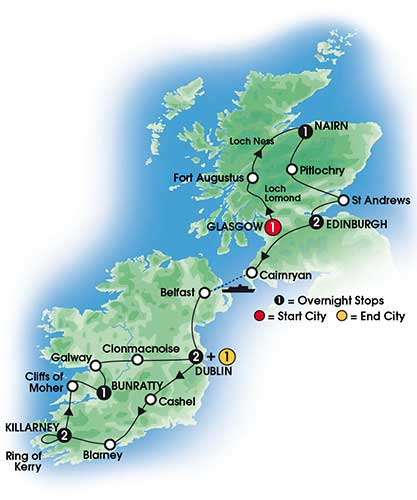 Quite Escorted tours of ireland scotland did