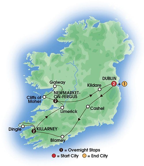 Best of Ireland South 6, 7, or 8 Day Escorted Tour