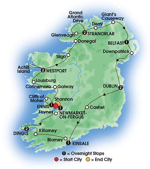Ireland's Wild Atlantic Way 13 Day Escorted Tour