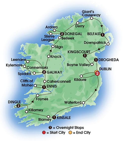 Jewels of Ireland 14 Day Tour