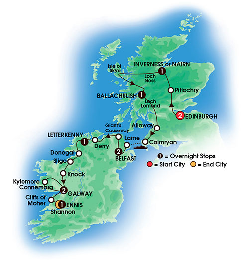 The Scots Irish Tour 11 Day