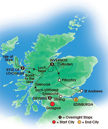 10 or 11 Day Scottish Cland & Castles