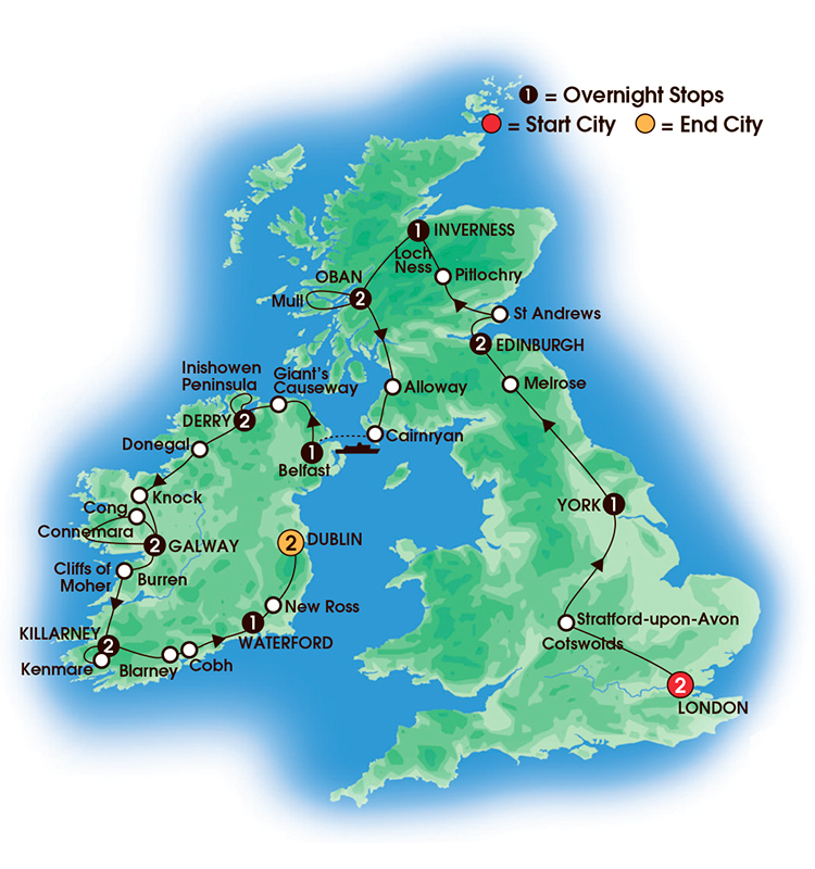 2017 British and Irish Landmarks  19 Days218 Nights