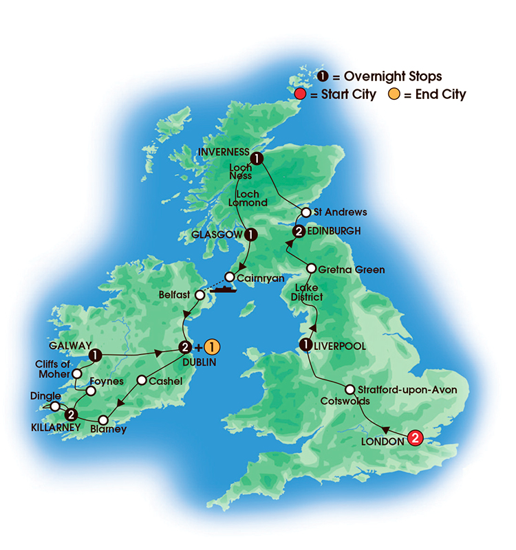 Bus Tours To Ireland From Scotland