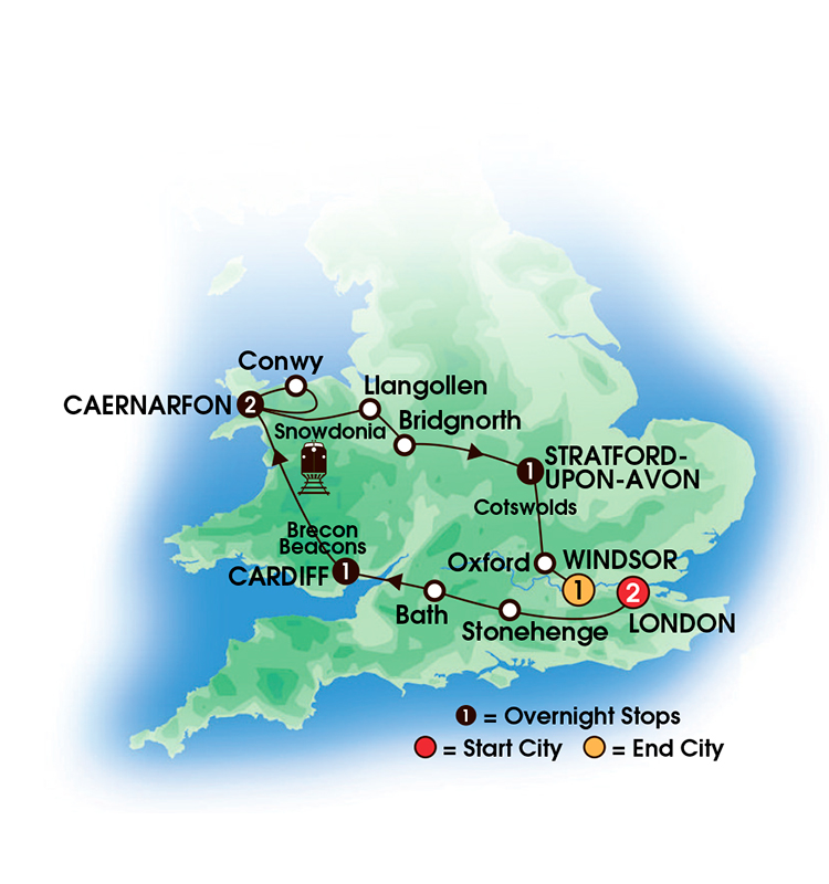 2017 Heart of Wales and England 8 Days7 Nights