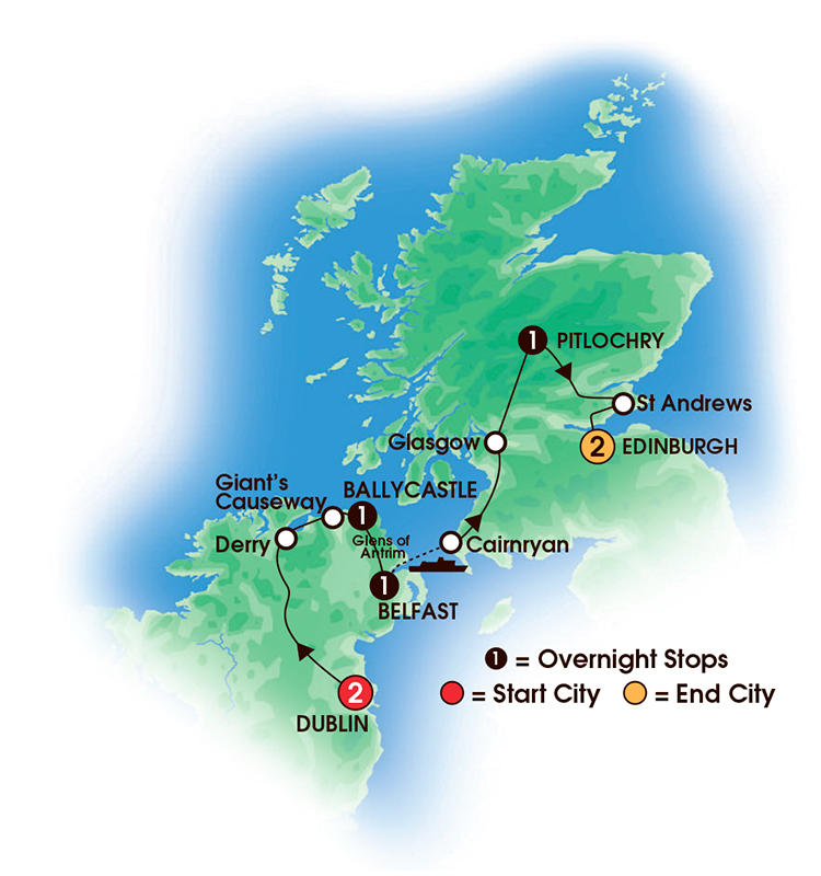 Cie Tours Into Scotland And Ireland In