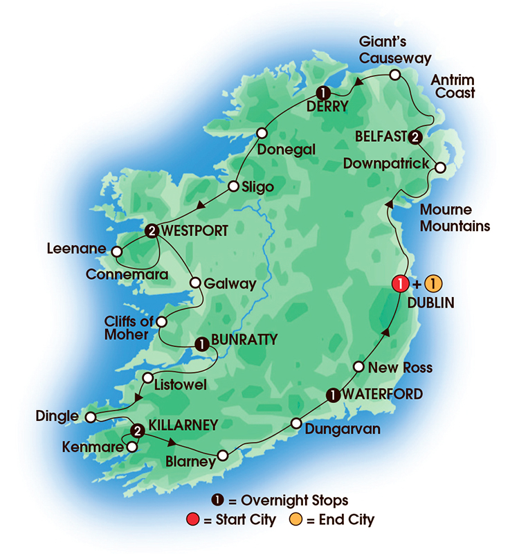 2017 irish classic 13 days12 nights 13 day escorted ireland tours from cie tours. Black Bedroom Furniture Sets. Home Design Ideas