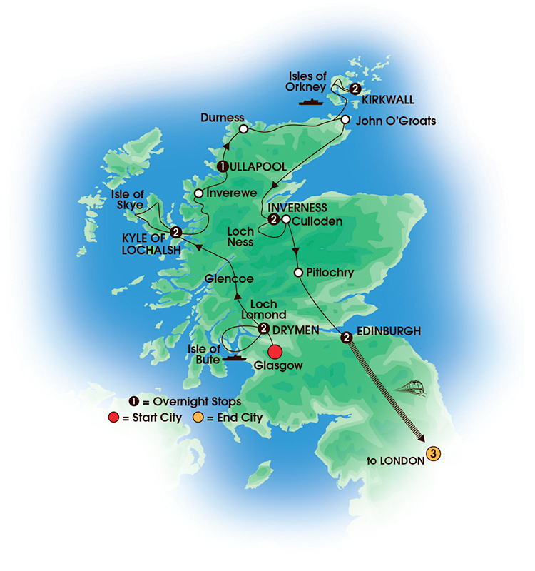 Scotland Tours A Scotland vacation to remember – Tourist Map Of Scotland