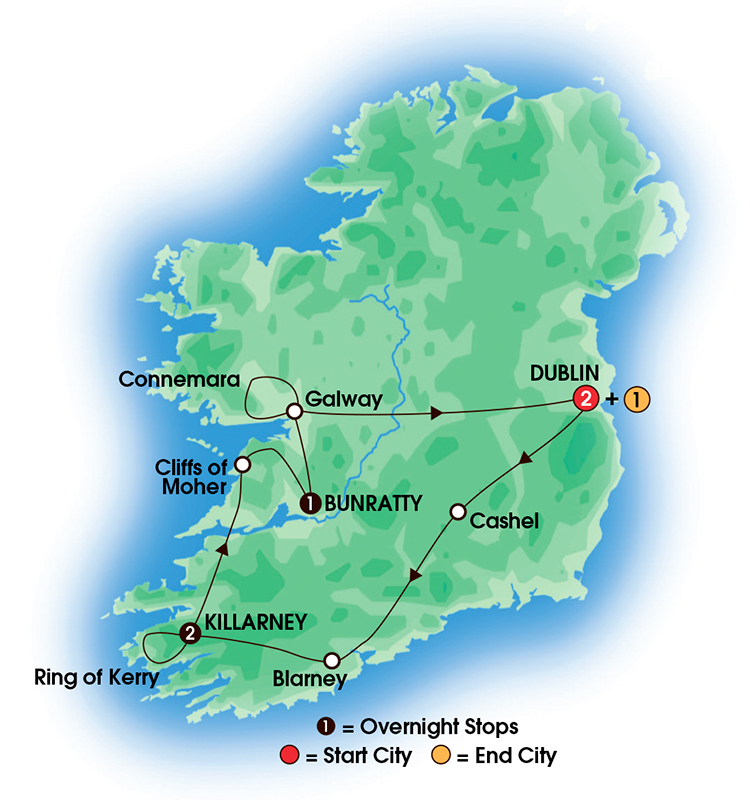 Day Ireland Vacation Package With CIE Tours Taste Of - Irish vacations