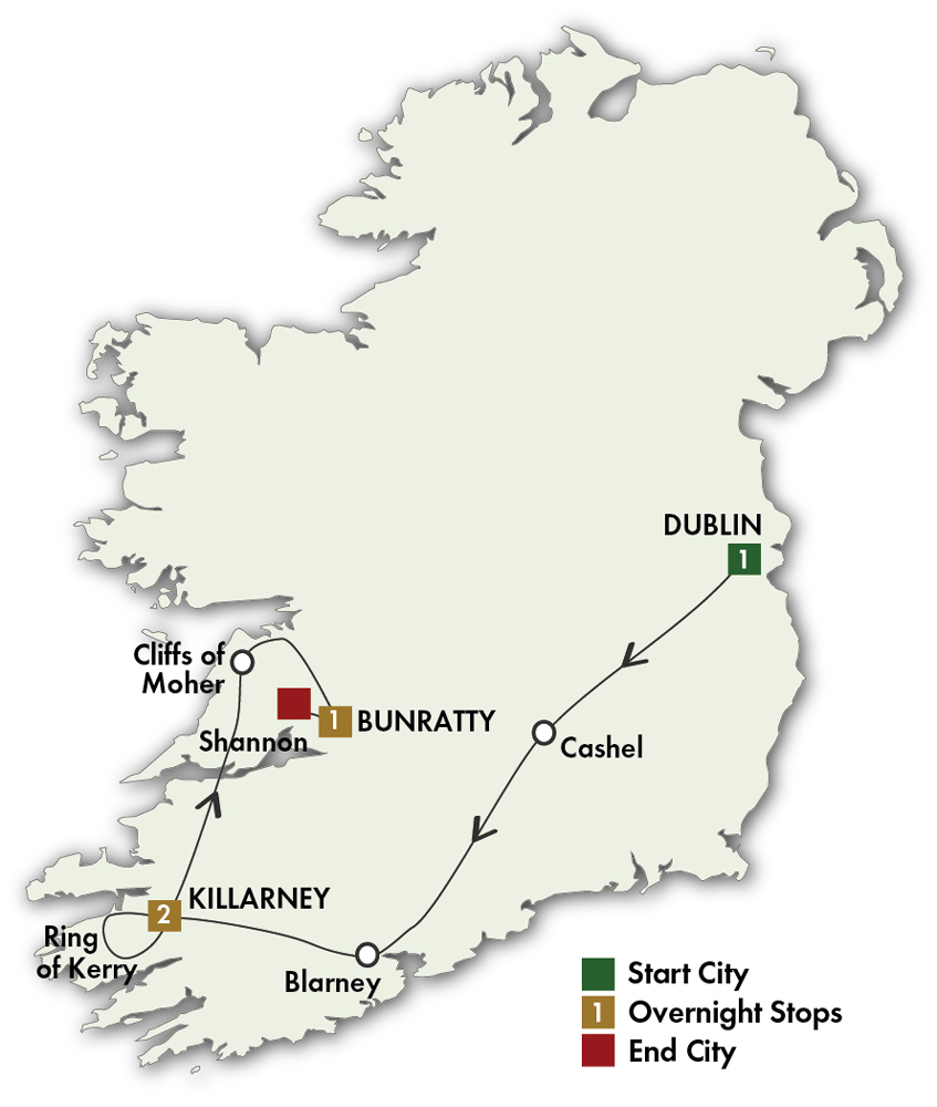 Day Driving Tour Of Ireland