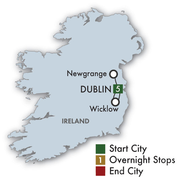 CIE Tours Tour Map  - 2019 St. Patrick's Day In Dublin: The Wearing Of The Green
