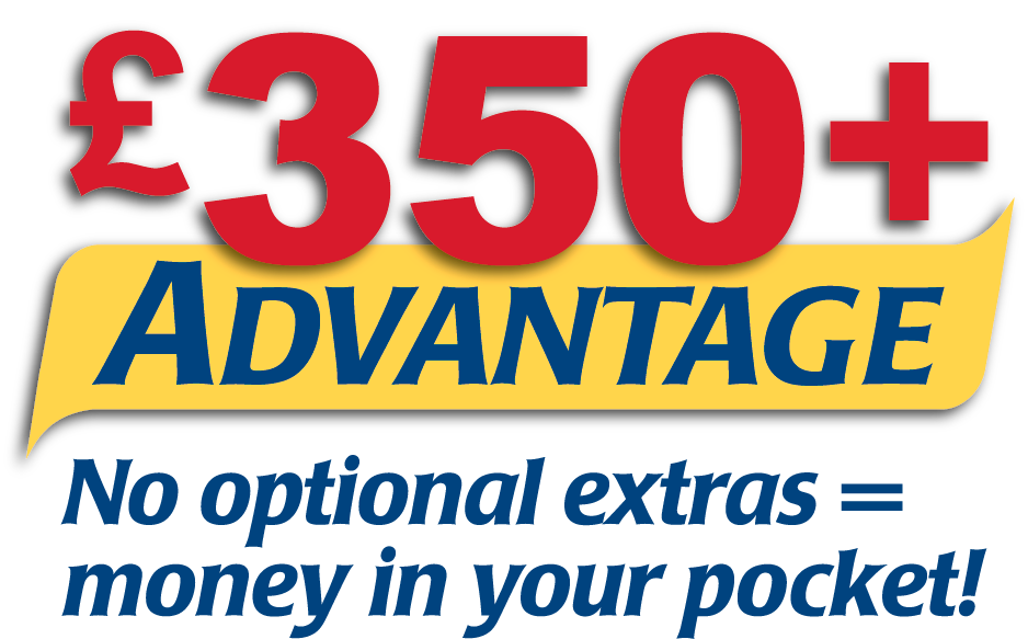 With the CIE Tours 350 pound Advantage, your holiday money goes a lot further!