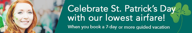 Celebrate St. Patrick's Day with our lowest airfare!